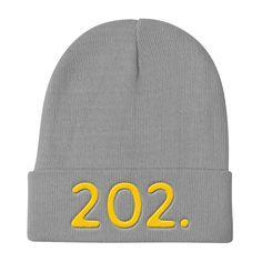 Washington DC 202 Area Code - Knit Beanie