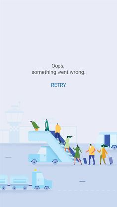 Flights error page. Fun & creative.