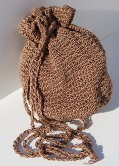 Crochet pouch bag handbag