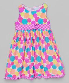 Loving this Pink Polka Dot Dress - Toddler & Girls on #zulily! #zulilyfinds