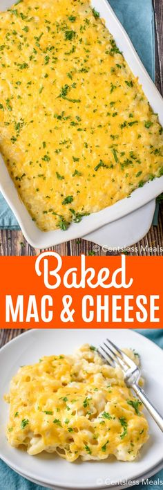 Baked Macaroni & Cheese with a secret ingredient! - CentsLess Meals Easy Baked Macaroni And Cheese Recipe, Homemade Macaroni Cheese, Homemade Cheese Sauce, Baked Cheese, Casserole Dishes, Casserole Recipes, Pasta Recipes, Cooking Recipes, Cheese Recipes