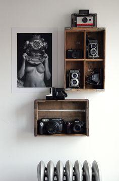 wooden crates. cajas de madera. vintage. decor