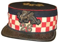 Officers forage cap, 26th Cameronians c1874-1880