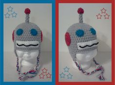 www.buttercupkid.etsy.com. Creative little crochet robot hat! Come see what this crafter has to offer at EPiC Arts Festival.