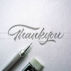 WEBSTA @ brush_type - Thank you for your patience with us. I am trying to stay up to date with everything going on. Artwork via Calligraphy Types, Types Of Lettering, Calligraphy Letters, Typography Letters, Brush Lettering, Typography Logo, Pencil Calligraphy, Dj Logo, Beautiful Calligraphy