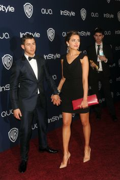Nick Jonas and Olivia Culpo at the InStyle and Warner Bros. Golden Globes after party. [Photo by Tyler Boye]