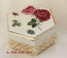 Jewelry box roses jewellery box womens gift by BellesAmiesDecor