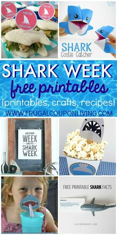 Shark Week Ideas and FREE Shark Week printables for Kids on Frugal Coupon Living.  Shark Week Ideas for Kids on Frugal Coupon Living. Are you a fish out of water when it comes to planning the perfect themed party?  For me, it takes days to sometimes search the internet and find some of the best themed content for our special occasion. Shark Week, which starts Sunday, June 26th,  is right around the corner and we wanted to give you some of the Best Shark Week Ideas for Kids. From crafts, to…
