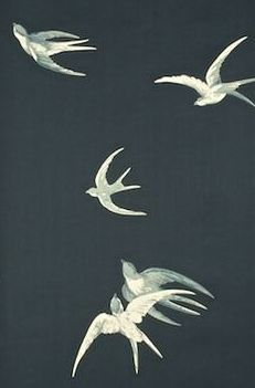 Swallows (W) by Sanderson Wallpapers papier peint