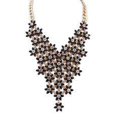 NEW-Fashion-Charms-Pendant-Chain-Choker-Crystal-Statement-Bib-Chunky-Necklace