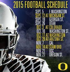 Oregon Ducks 2015 Football Schedule