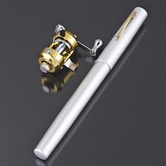 Carbon Pen Rod & Trolling Reel Combo (Random Color) – USD $ 13.49