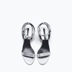 Image 4 of BLOCK HEEL ANKLE-STRAP SANDALS from Zara