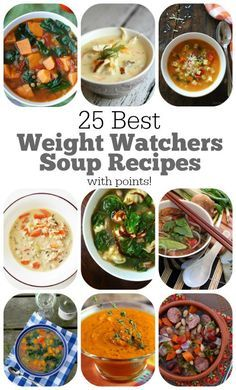 Best Weight Watchers Soup Recipes : 25 awesome recipes with nutritional information and points per serving included!