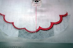 Embroidery Statin Stitch Finished satin stitch border on applique or patch embroidery Halfway through color showing the zigzag stitches being covered by satin stitches. Sewing Machine Embroidery, Cutwork Embroidery, Learn Embroidery, Embroidery Stitches, Needlepoint Stitches, New Embroidery Designs, Machine Embroidery Patterns, Embroidery Software, Knitting Patterns