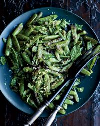 Blistered Snap Peas with Mint // More Classic Summer Salads: http://www.foodandwine.com/slideshows/summer-salads #foodandwine