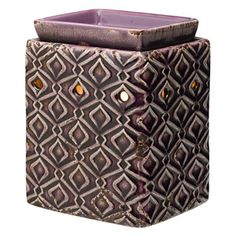 A playful diamond pattern enlivens a bold purple background in Amethyst.