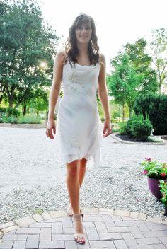 Vintage Boho Outdoor Beach Rehearsal Wedding Beaded Cream Chiffon Ruffle Fler Dress S Small On Etsy