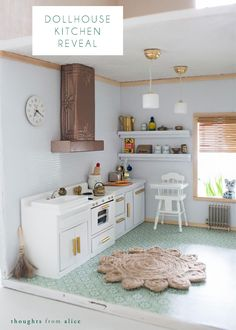 Thoughts from Alice: Dollhouse Kitchen Reveal #DollhouseTherapy