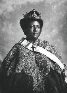 Princess (later Empress) Menen Asfaw of Ethiopia. Crown Princess (later Empress) Menen Asfaw of Ethiopia.Crown Princess (later Empress) Menen Asfaw of Ethiopia. Jah Rastafari, Haile Selassie, African Culture, African American History, Black King And Queen, Black Royalty, African Royalty, Art Africain, Black History Facts