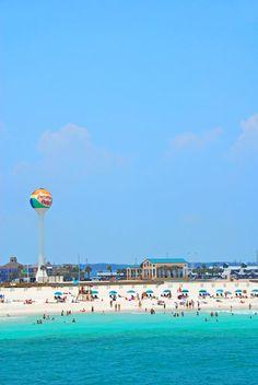 Beach at Pensacola, Florida.