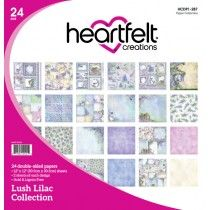 Lush Lilac Paper Collection #HeartfeltCreations @hcofficial