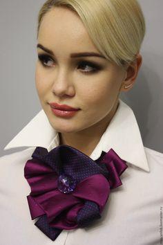 """Купить Украшение """"Черничное варенье"""" - фуксия, галстук, украшение на шею, украшение, модный аксессуар, мода"""