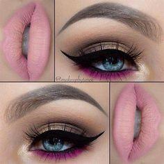 Make-Up: Soft smokey eyes with a pop of purple Makeup Goals, Makeup Inspo, Makeup Inspiration, Makeup Tips, Hair Makeup, Makeup Ideas, Makeup Tutorials, Makeup Quiz, Makeup Names