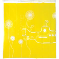 Yellow Submarine Shower Curtain now featured on Fab.