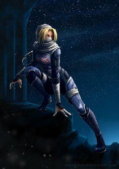 Jeu vidéo : Zelda / Sheik by Emeraldus /  http://www.deviantart.com/art/Sheik-373857431