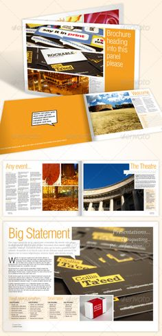 indesign brochure templates - Google Search