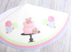 Floral And Green Deer Girls Birthday Hat Template In A Beautiful