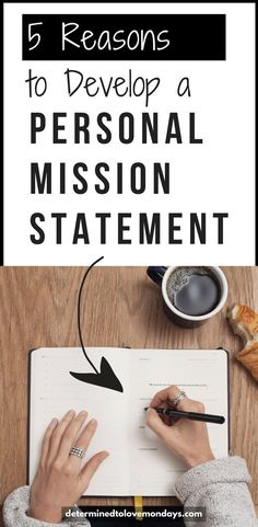 5 Reasons To Develop A Personal Mission Statement Have you ever considered developing a Personal Mission Statement? Learn why and how. Self Development, Personal Development, Life Skills, Life Lessons, Life Plan, Self Motivation, Time Management, Business Management, Setting Goals