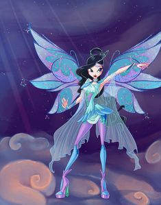 Winx Club by PrettieAngel on DeviantArt Winx Club, Winx Magic, Las Winx, Character Inspiration, Character Design, Alternative Disney Princesses, Tinkerbell And Friends, Fairytale Fantasies, Blue Fairy