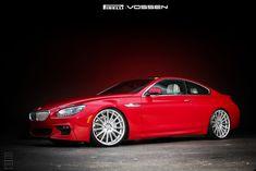 Vermillion Red BMW 650i On Vossen Wheels