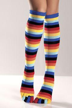 Rainbow toe socks.  I had socks like this as a teen!  Best things ever!