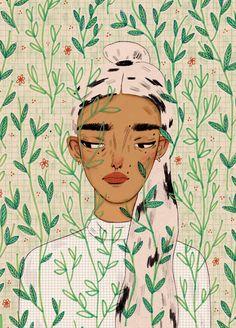 Illustration by Manjit Thapp Art And Illustration, Illustration Mignonne, Kunst Inspo, Art Inspo, Grafik Design, Oeuvre D'art, Illustrators, Art Drawings, Drawing Art