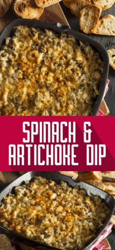 Spinach and Artichoke Dip will make everyone in the household happy. Try it for game or movie night for a fabulous snack!