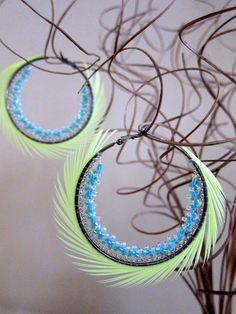 """Hoops Earrings (2"""")$48.00, via Etsy."""
