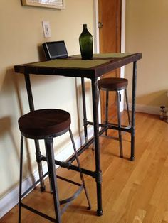Exceptional Reworx Created This Reclaimed Wood Top Pipe Leg Pub Table With Stools For  Dining In This Boston Area Apartment Living!