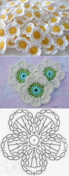 Crochet Mantas Patrones Ganchillo Ideas For 2019 Crochet Flower Tutorial, Crochet Flower Patterns, Crochet Blanket Patterns, Crochet Flowers, Knitting Patterns, Pattern Flower, Afghan Patterns, Square Patterns, Lace Flowers