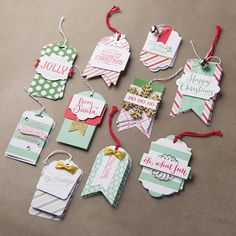 Oh, what fun Stampin' UP! Tag and Stamp set - housewivesofriverton.com