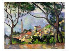 The Sea at L'Estaque, 1878 Gicléetryck Paul Cezanne - AllPosters