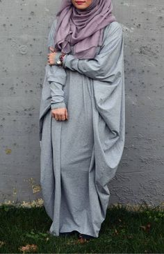 Heather Gray Abaya Papillon