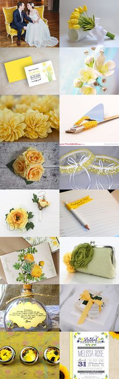 Sweet Yellow Wedding by parsi on Etsy--Pinned with TreasuryPin.com