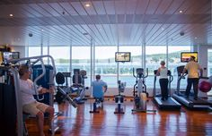 Keep fit during your cruise holiday. The well-equipped fitness centre on board Boudicca has everything you could need from treadmills, rowing machines and weights for those energetic types, including a dance floor for aerobics sessions and dance lessons - all with panoramic sea views.