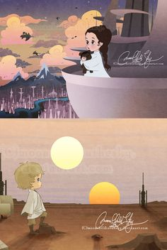 Aww little Leia and Luke. =)