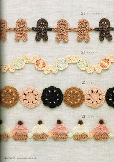 Crochet bunting! Very cute...
