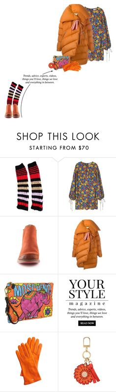 """Flowers & Stripes"" by vinograd24 ❤ liked on Polyvore featuring Sonia Rykiel, MANGO, Cubanas, Marques'Almeida, Moschino, Pussycat, Mark & Graham, Tory Burch and puffers"