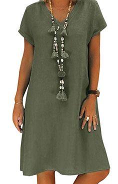 Dokotoo Femme Robe de Gland Court Cocktail Tunique Robes de Plage Boh/ème Manches Courtes Cache-Maillots de Bikini Mousseline Cover Up,A-noir,S EU36-38